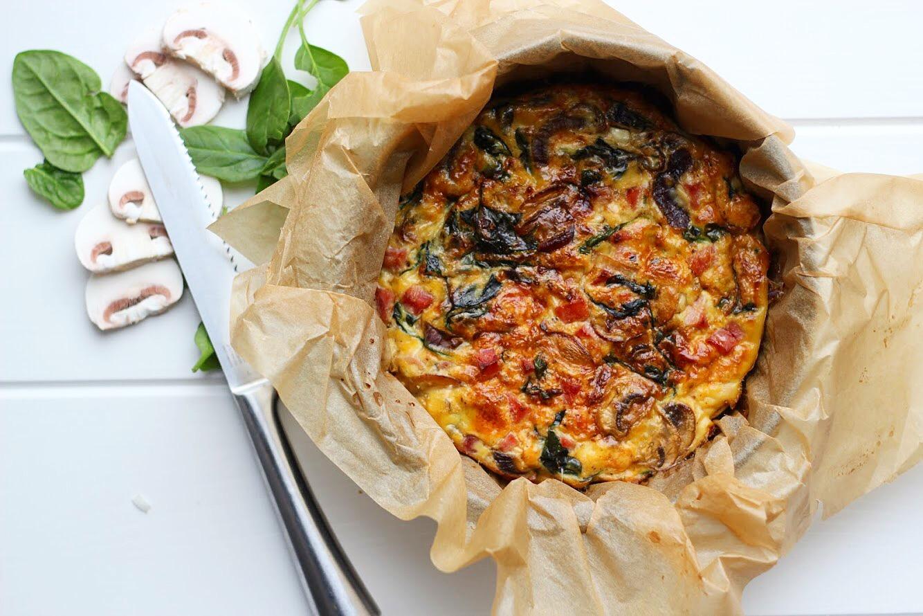 Recept: lowcarb hüttenkäse quiche