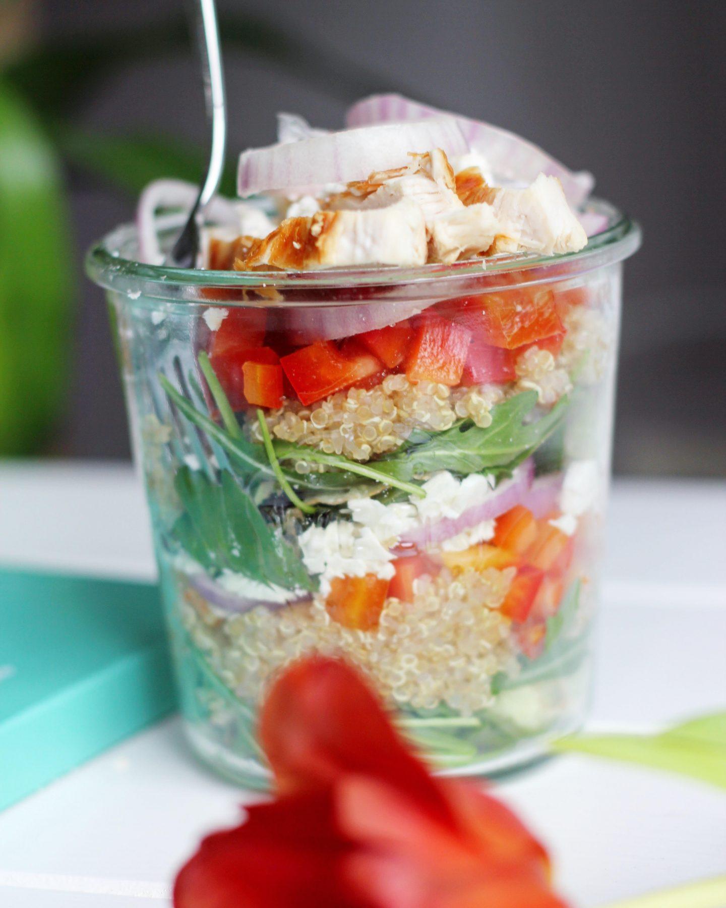 Recept: Quinoa salade met gegrilde kip
