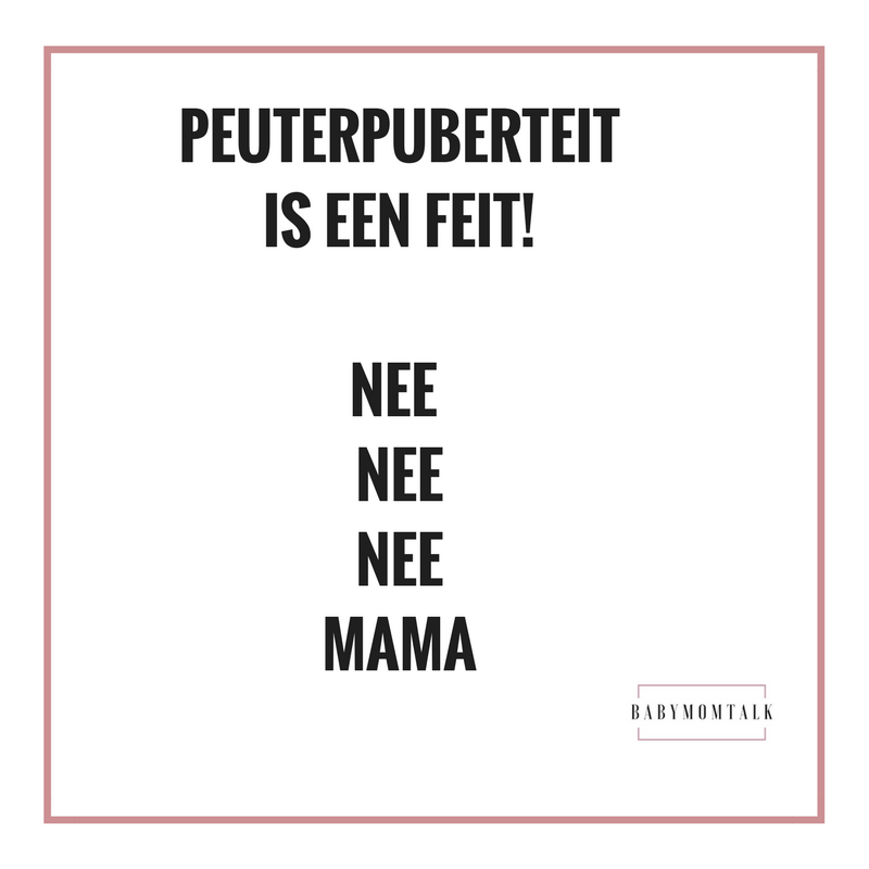 Peuterpuberteit is een feit!