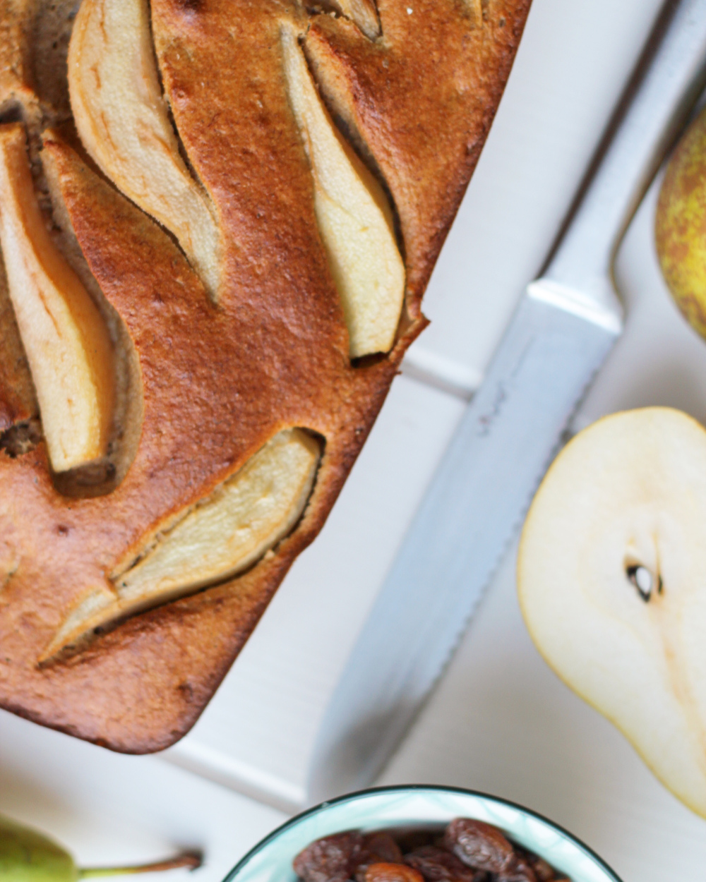 Recept Mamasuperdun: Bananenbrood met peer en rozijn